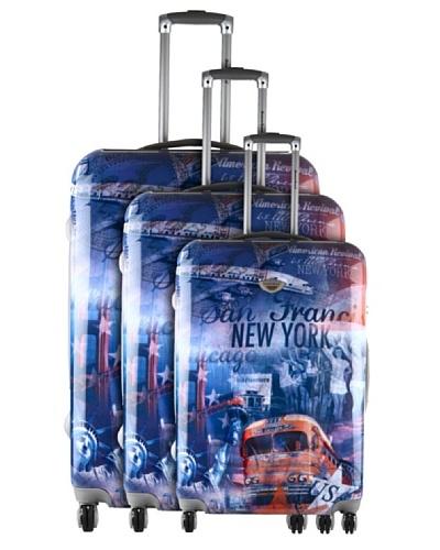 American Revival Set 3 Trolleys 4 Ruedas New York Bus