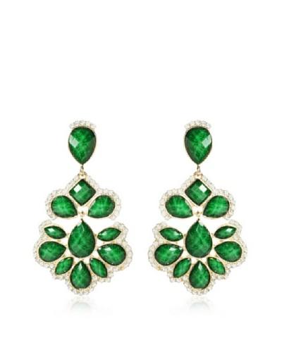 Amrita Singh Pendientes Nello Crystal Verde