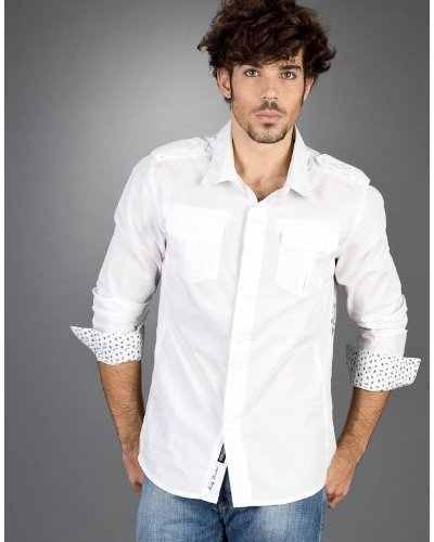 Andy Warhol By Pepe Jeans Camisa Cable Blanco