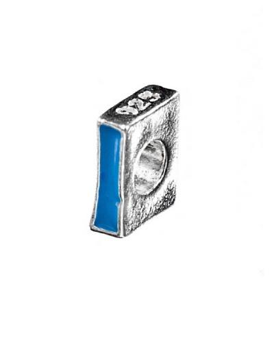 Angel Devil Abalorio de Plata de Ley 925 Letra I Azul