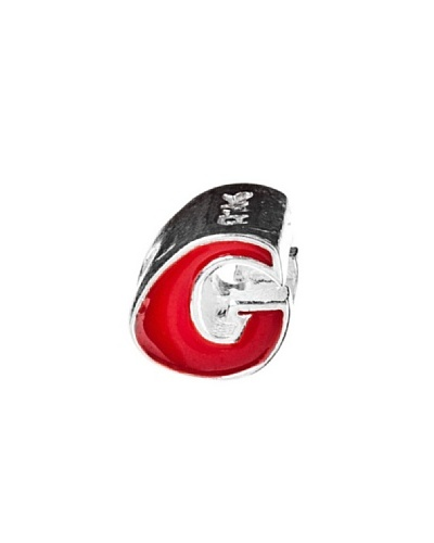 Angel Devil Abalorio de Plata de Ley 925 Letra G Rojo