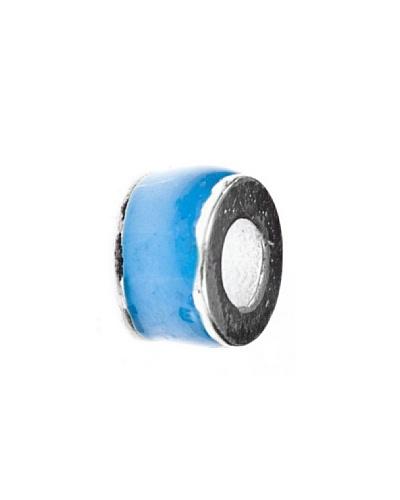 Angel Devil Abalorio de Plata de Ley 925 Confeti Azul