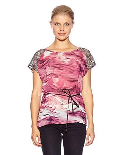 Anna Scott Camiseta Evans Fucsia