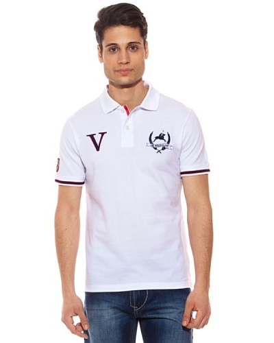 AR Polo Polo Vitrolic Ribetes Blanco