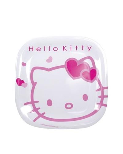 Plato Cuadrado 21 cm Modelo Hello Kitty