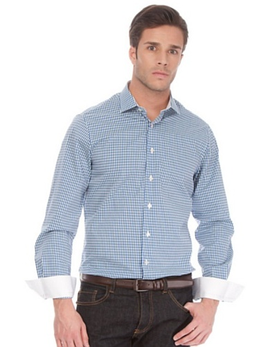 Arrow Camisa Cluet Slim Azul / Verde / Blanco