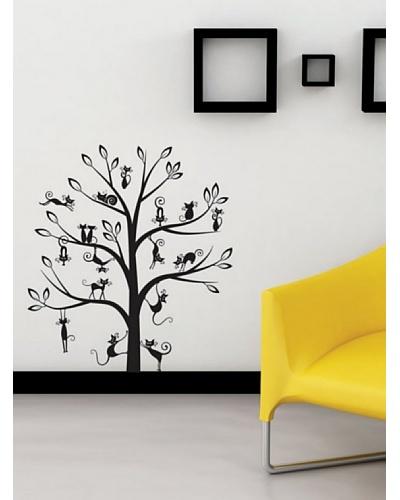 Art Applique Vinilo Cats Tree