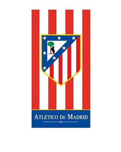 Art Experience Toalla De Playa Atlético De Madrid Rayas Rojo / Blanco 76 x 152