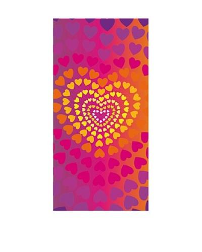 Art Experience Toalla De Playa Heart Fucsia 75 x 150