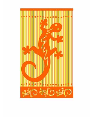Art Experience Toalla De Playa Dragón Naranja 100 x 160