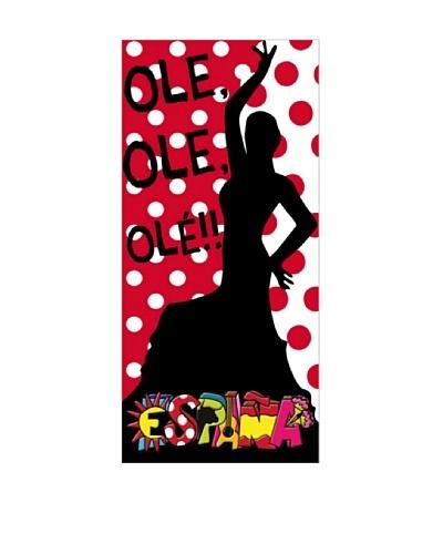 Art Experience Toalla De Playa Ole Rojo / Negro 75 x 150