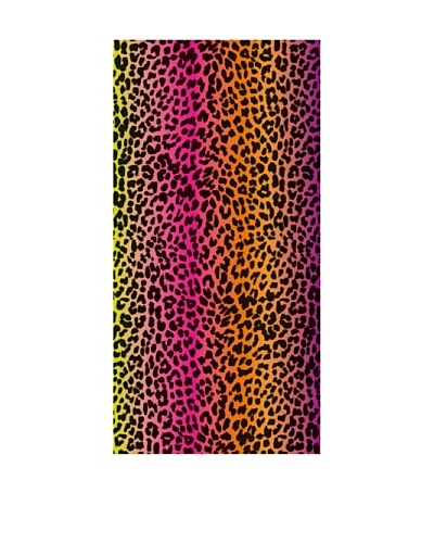 Art Experience Toalla De Playa Print Fucsia / Naranja 75 x 150