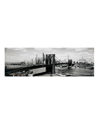 Artopweb Anonymous - El Puente de Brooklyn, Nueva York, 1938 100 x 33 cm