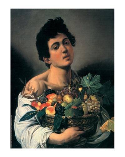Artopweb Caravaggio – Niño con Cesto de Fruta 60 x 80 cm