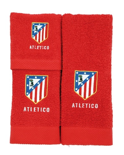 Atlético de Madrid Juego de Toallas Escudo