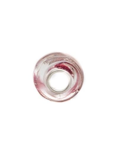 Bacio Abalorio de Plata de Ley 925  Murano Rosa Agua