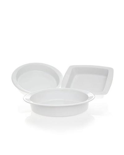 Cook & Serve by Vista Alegre Set 3 Bandejas De Horno, Rectangular, Ovalada y Redonda