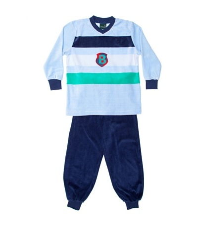 Basket Pijama Niño Velour Tapeta Bordado
