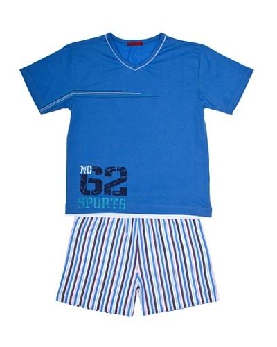 Basket Pijama Niño M/Corta, Estampado Pantalón Estampado Listas