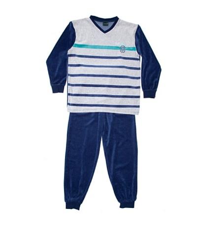 Basket Pijama Niño Cuello Pico