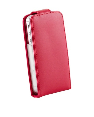 Beja Carcasa Roja para iPhone 4/4S en Cuero Auténtico