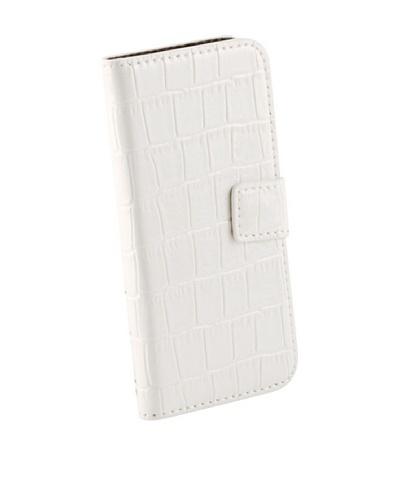 Beja Funda de protección Blanca para iPhone 5/5S aspecto Cocodrilo