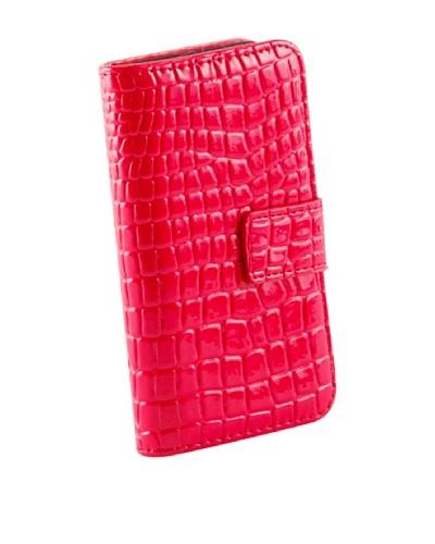 Beja Funda Para iPhone 4/4S De aspecto Cocodrilo Rojo