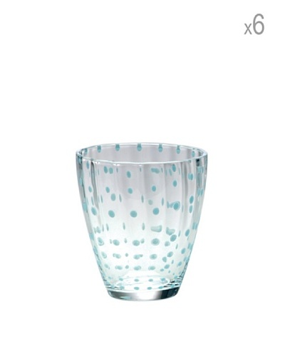 Bitossi Home Set 6 Vasos Flurry Celeste