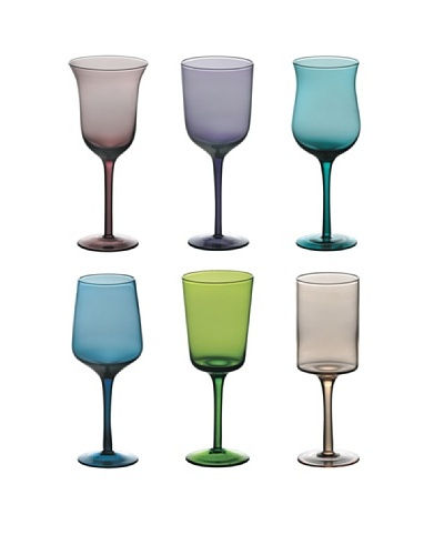 Bitossi Home Set 6 Vasos De Pie Alto  Multicolor