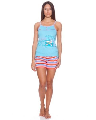 Bkb Pijama Tirante, Estampado Y Bordado, Pantalón Líneas horizontales