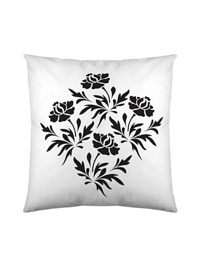 Black & White Funda de Cojín Roses