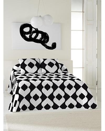 Black & White Colcha Bouti Vintage