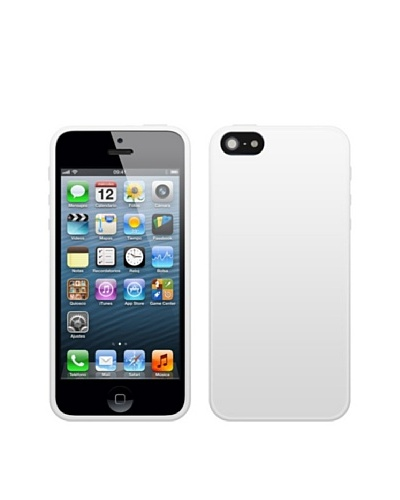 Blautel iPhone 5 Funda 4-Ok Protek Colors Blanco