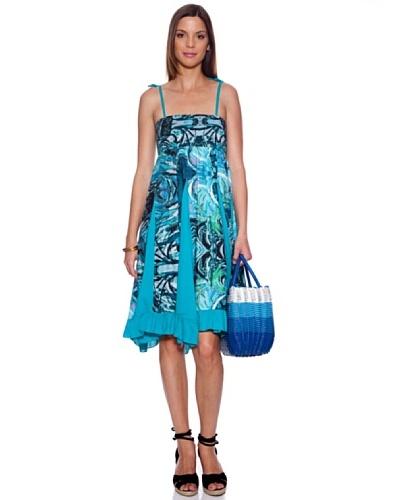 Bolero Ibiza Vestido Tocra Azul