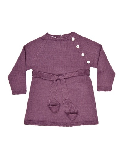 Bonnet a Pompon Vestido Punto con Botones