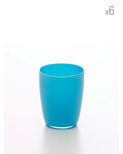 Set 6 Vasos Tulipán Azul