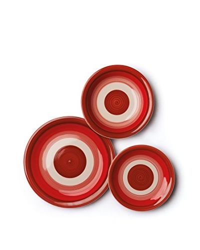 Vajilla 18 Piezas Circle Rojo