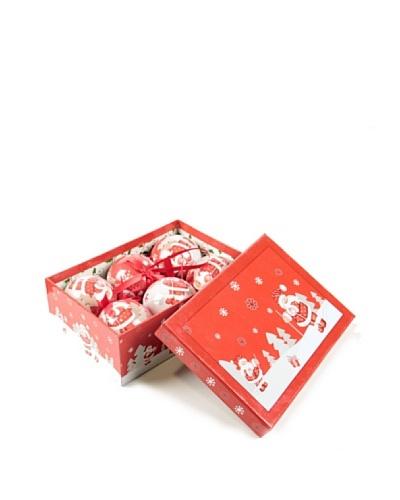 Set 6 Bolas Navidad En Caja