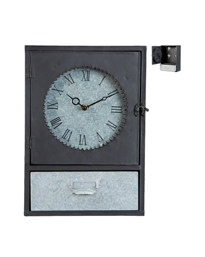 Vical Home Reloj y Caja de Llaves Gris