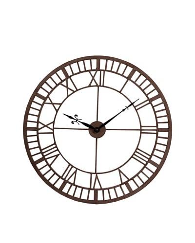 Reloj De Pared Industrial Marrón