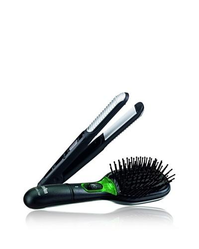 Braun Cepillo de Pelo Braun Satin Brush + Plancha de Pelo Satin Hair ESW