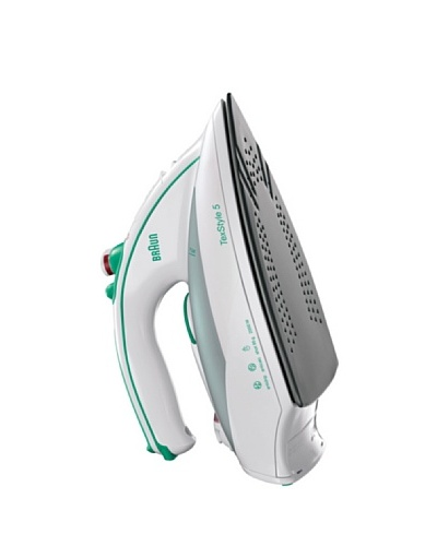 Braun Plancha Blanca/Verde. Suela De Eloxal. Vapor Variable 0-30g/Min, Emisión De Vapor 95g/Min.