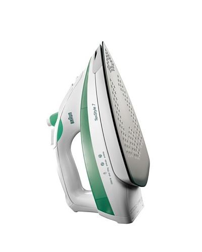 Braun Plancha Verde. 2400W., Suela De Eloxal. Vapor Variable 0-50g/Min, Emisión De Vapor 120g/Min.