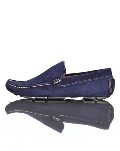 British Passport Mocasines Ante Azul