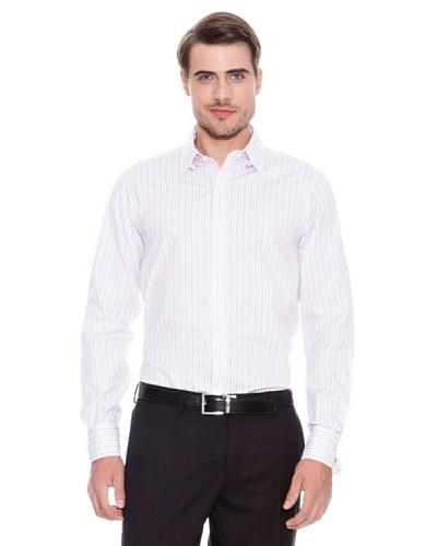 Brooks Brothers Camisa Vestir Ringo Blanco / Rojo
