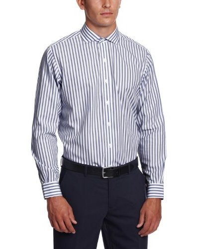 Brooks Brothers Camisa Tiffany Azul Marino / Blanco