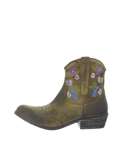 Buffalo 1229 washed velvet 139154 - Botas fashion de cuero para mujer