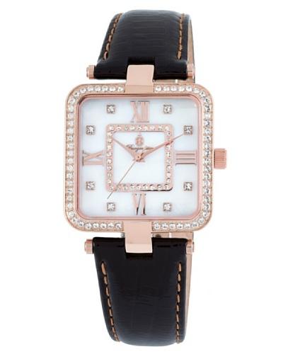 Burgmeister BM515-382 - Reloj analógico de mujer de cuarzo con correa de piel negra - sumergible a 3...