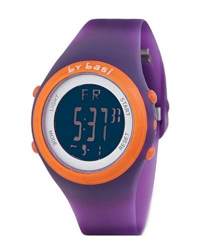 BY BASI A0981U03 - Reloj Unisex movi cuarzo correa policarbonato Lila / Naranja