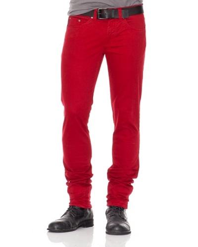 Calvin Klein Jeans Pantalón 5 Bolsillos Burdeos